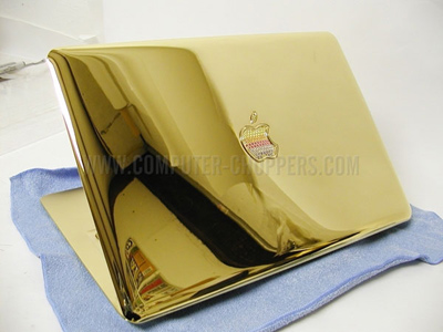 Gold and Sapphire MacBook Air