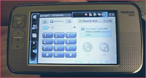 Skype on the Nokia N800