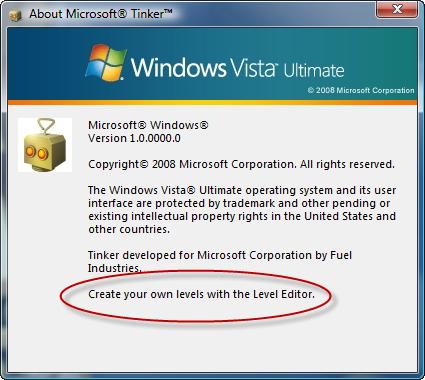 Microsoft Tinker - Where's the level editor?