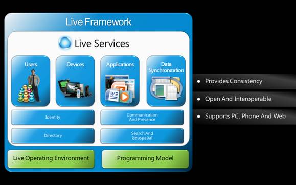 MicrosoftÂ's Live Framework: A (revised) picture is worth a thousand words