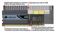 Corsair Dominator Dual Channel 4096MB PC3 17066 DDR3 1600MHz (2 x 1GB)