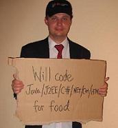 Robert Maldon will code for food from robertmaldon.blogspot.com