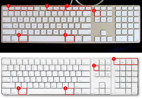 Mac keyboards compared
