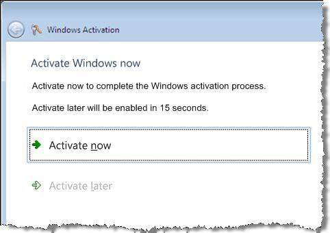 Change to the activation dialog box for Vista SP1