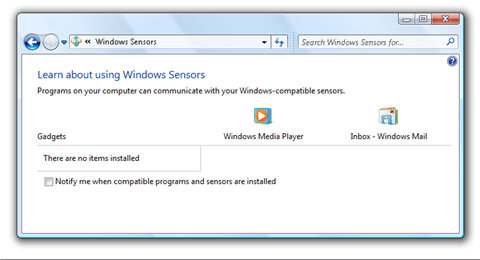 'Sensing' more about what's coming in Windows 7