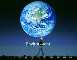 Jobs touts the environment in his Macworld Expo keynote