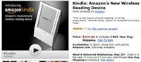 Amazon Kindle - Now $359