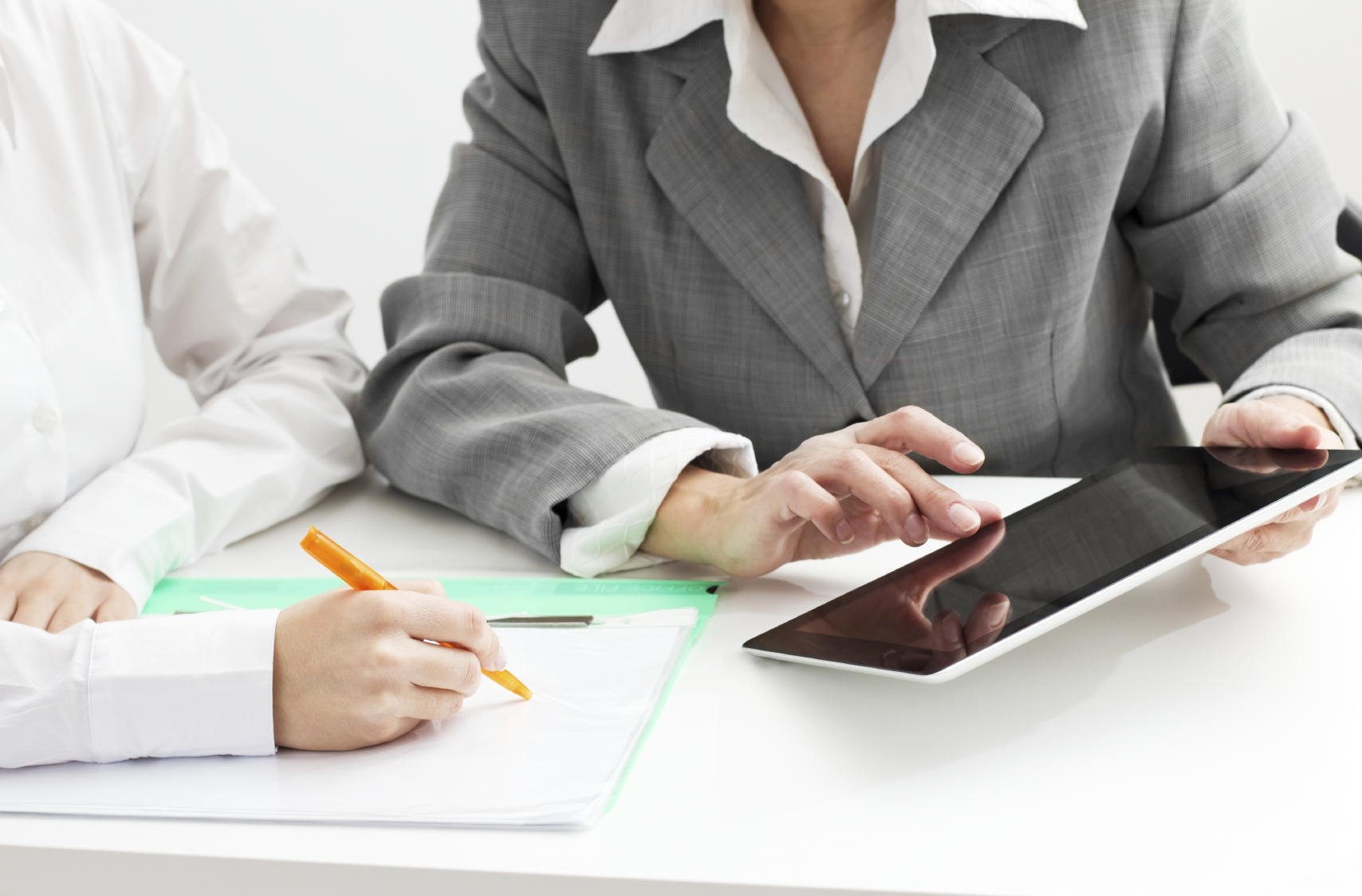Professionals using tablets