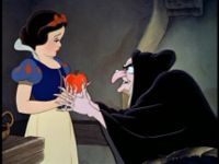 Snow White and the witch, from Disney Wikia
