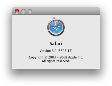 Apple updates Safari to 3.1