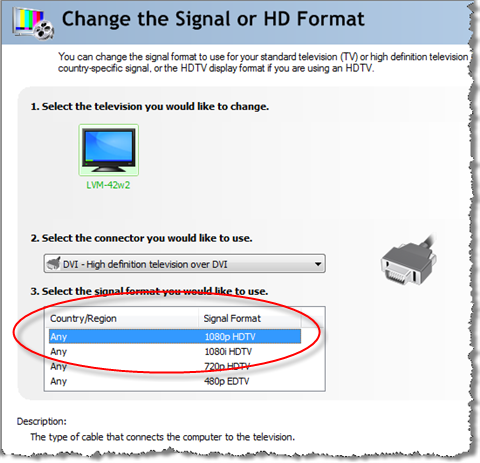 Yes, you can deliver 1080p output from a Vista PC to a TV