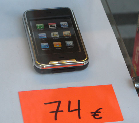 Fake iPods spotted in Spain