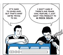 Close-up of page 11 on Google Chrome comic — rock solid