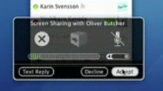 iChat display sharing removed?