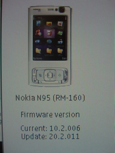 Nokia N95-3 (North American model) firmware update version 20.2.011 now available