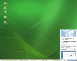 openSUSE 10.3 features GNOME 2.20
