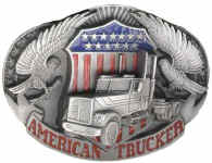 American Trucker buckle from Belt Buckles of Estes