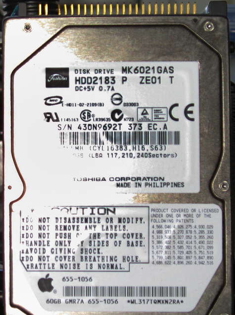 Living a bare disk lifestyle Apple notebook drive