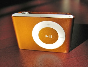iPod shuffle driven over - front