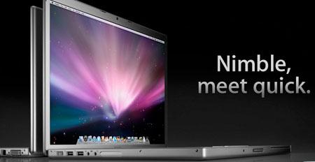 Apple updates MacBook Pro with Penryn
