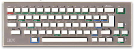 IBM PC jr. chiclet keyboard like the Apple keyboard?