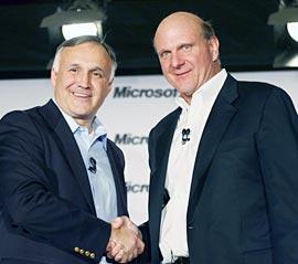 Steve Balllmer and Novell CEO Ron Hovsepian