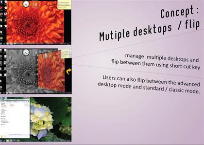 Windows 8 Multiple Desktops and Flip