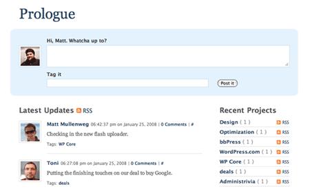 Prologue: Twitter meets Basecamp