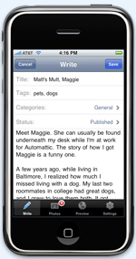 WordPress client for iPhone coming any time