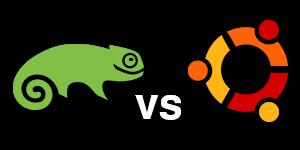 SUSE vs. Ubuntu logos