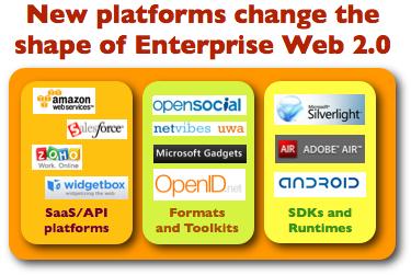 New Platforms Change The Shape of Enterprise Web 2.0