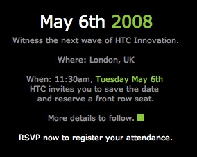 HTC is kicking off a North American campaign and holding an event on May 6th