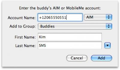 Free SMS on the iPhone