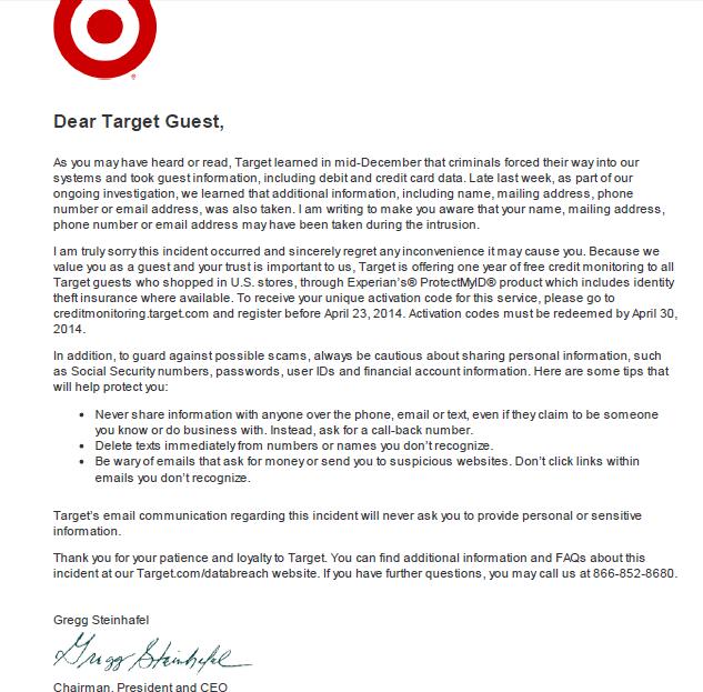 target letter