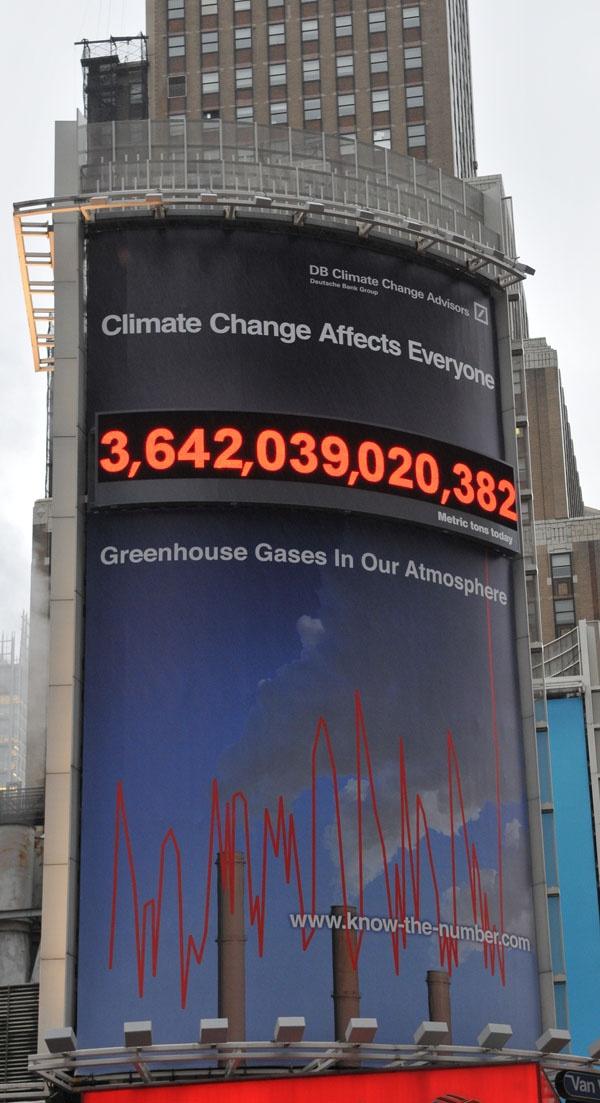 Deutsche Bank counts carbon rather publicly