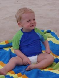 Owen on the beach