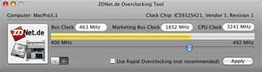 Overclock your Mac Pro in software