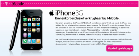 T-Mobile bringing iPhone to The Netherlands
