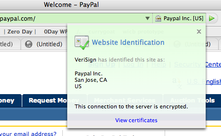 Paypal EV SSL on Firefox