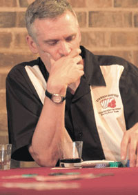 Chris Gladwin playing poker, from the Cleversafe Web site, and CrainÂ's Chicago Business