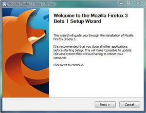 Firefox 3.0 Beta 1