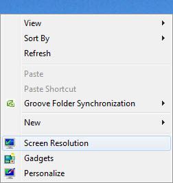 Windows 7 Desktop Menu