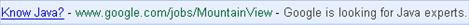 Google Java Ad