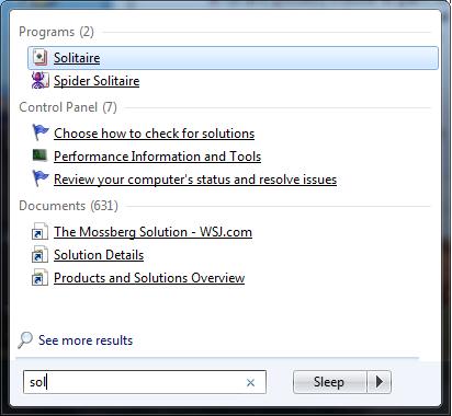 The Windows 7 Search menu is easier than the XP-style Run box