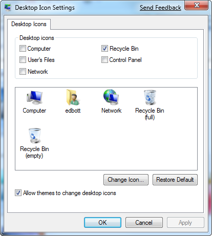 Put old-style icons back on the Vista or Windows 7 desktop