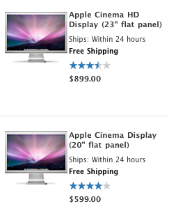 Apple removes monitors from front page of store