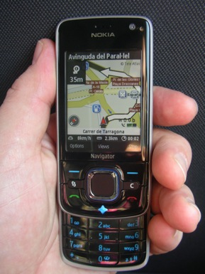 MWC08: The Nokia 6210 Navigator with magnetic compass keeps you on the path
