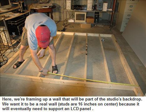 David framing the wall