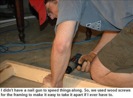 David drilling the studs