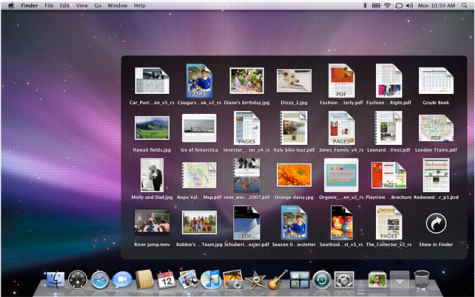 Leopard's Finder Cover Flow: Yuck! Stacks File browsing.